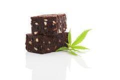Brownie del cáñamo Imagenes de archivo