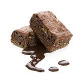 Brownie del chocolate fotos de archivo
