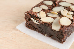 Brownie del chocolate Foto de archivo