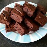 Brownie del chocolate Imagenes de archivo
