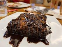 Brownie del chocolate caliente fotos de archivo libres de regalías