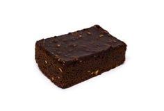 Brownie del chocolate de la almendra imágenes de archivo libres de regalías