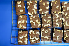 Brownie del chocolate de la torta imágenes de archivo libres de regalías