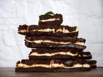 brownie del cioccolatino Fotografia Stock