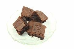 Brownie del cioccolato Immagine Stock