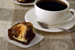 Brownie del cioccolato Fotografia Stock Libera da Diritti