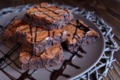 Brownie del cioccolato Fotografie Stock Libere da Diritti