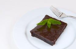 Brownie del cioccolato Fotografia Stock