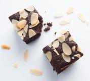 Brownie del cioccolato, pungenti fuori Fotografia Stock