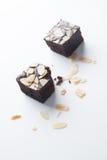 Brownie del cioccolato, pungenti fuori Immagini Stock Libere da Diritti