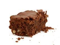 Brownie del dessert del cioccolato con i dadi Fotografia Stock Libera da Diritti