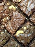Brownie del dulce de azúcar del anacardo Fotografía de archivo