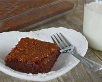 Brownie del dulce de azúcar con leche Imagen de archivo libre de regalías