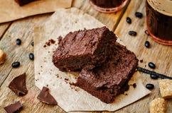 Brownie del fagiolo nero Immagine Stock Libera da Diritti