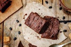 Brownie del fagiolo nero Immagine Stock
