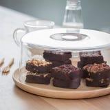 Brownie del partido Foto de archivo libre de regalías