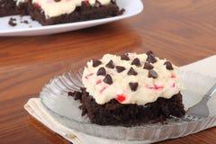 Brownie del pastel de queso Fotografía de archivo