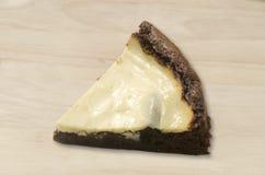 Brownie del pastel de queso Foto de archivo