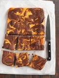 Brownie del remolino de la calabaza Fotos de archivo libres de regalías