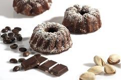 Brownie deliciosa do chocolate com gosto do coffe Fotos de Stock Royalty Free