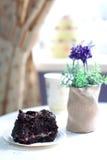 Brownie deliciosa em uma placa Imagens de Stock