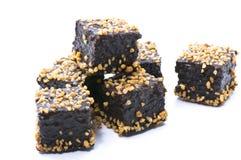 Brownie della caramella Fotografia Stock Libera da Diritti