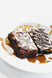 Brownie della mandorla Fotografia Stock Libera da Diritti