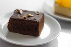 Brownie. Dessert cake dish food  brownie Royalty Free Stock Photography