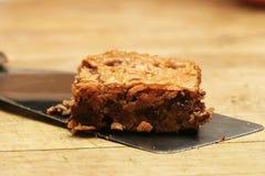Brownie di pepita di cioccolato Immagini Stock Libere da Diritti
