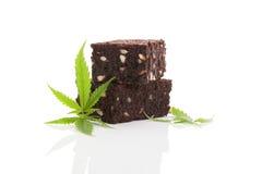 Brownie do cannabis Imagem de Stock Royalty Free