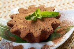 Brownie do caramelo de chocolate imagem de stock