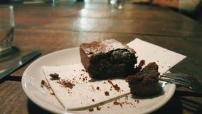 Brownie do chocolate Fotografia de Stock Royalty Free