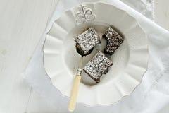 Brownie do chocolate Imagens de Stock Royalty Free