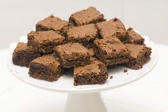 Brownie do chocolate Imagens de Stock