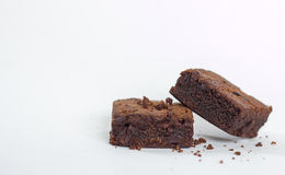 Brownie do chocolate imagem de stock