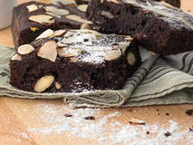 Brownie do chocolate Imagens de Stock Royalty Free