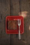 Brownie do chocolate Foto de Stock