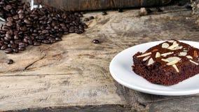 Brownie do chocolate fotografia de stock