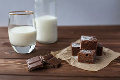Brownie do chocolate com leite Fotografia de Stock Royalty Free