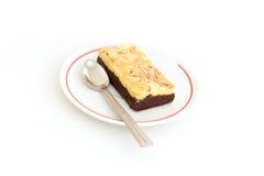 Brownie do queijo do chocolate Fotografia de Stock Royalty Free