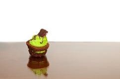 Brownie do tamanho da mordida Imagem de Stock Royalty Free