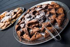 Brownie en la bandeja Imagen de archivo