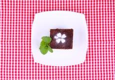 Brownie en la placa Fotografía de archivo libre de regalías