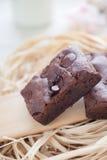 'brownie' faits maison de fondant caoutchouteux photos libres de droits