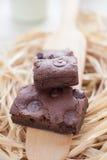 'brownie' faits maison de fondant caoutchouteux photographie stock libre de droits