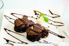 brownie a forma di coniglio dell'arachide Fotografie Stock Libere da Diritti