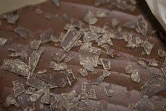 'brownie' givré par chocolat Photographie stock libre de droits
