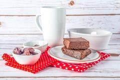 'brownie' gratuits de style de Paleo de gluten sain Photos libres de droits