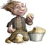 Brownie hambriento stock de ilustración