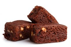 Brownie with hazelnut Stock Image